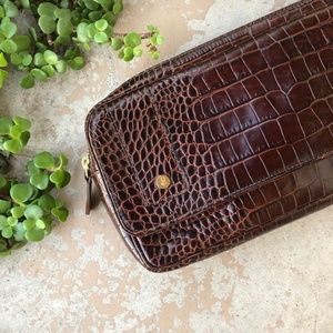 Diane Von Furstenberg DVF Leather Croc Clutch